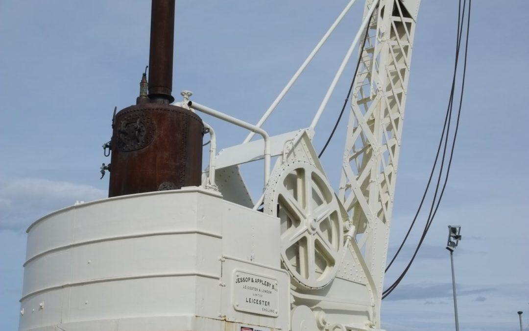 Mobile steam powered crane
