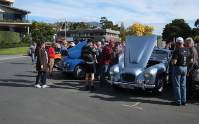 Classic car meet at Sandy Bay