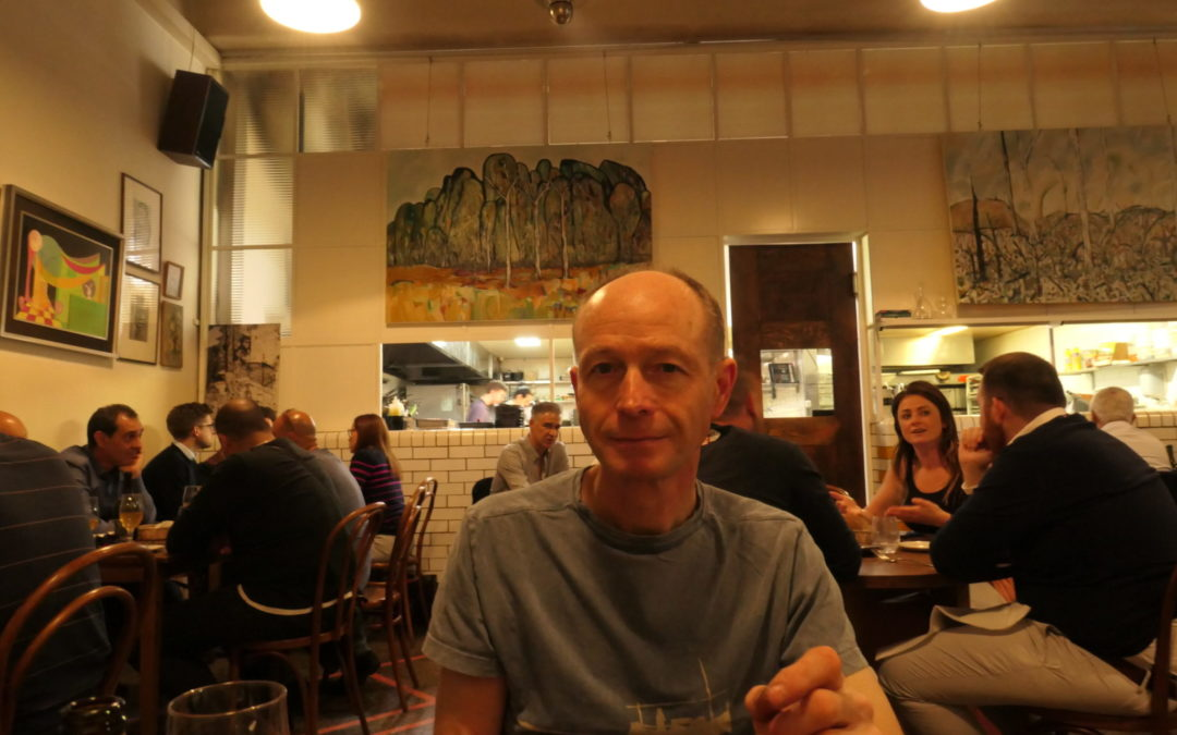 At Emilias' restaurant in Melbourne